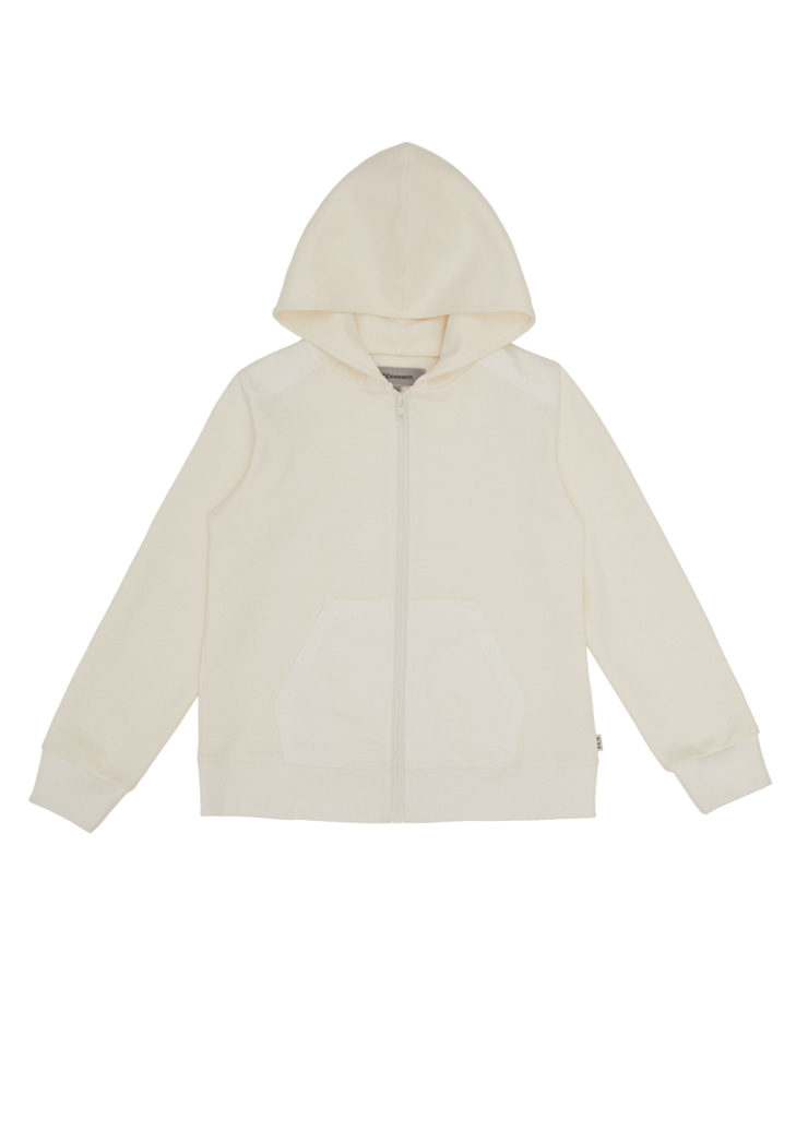ben Tennis Hood Zip-Up_Ivory