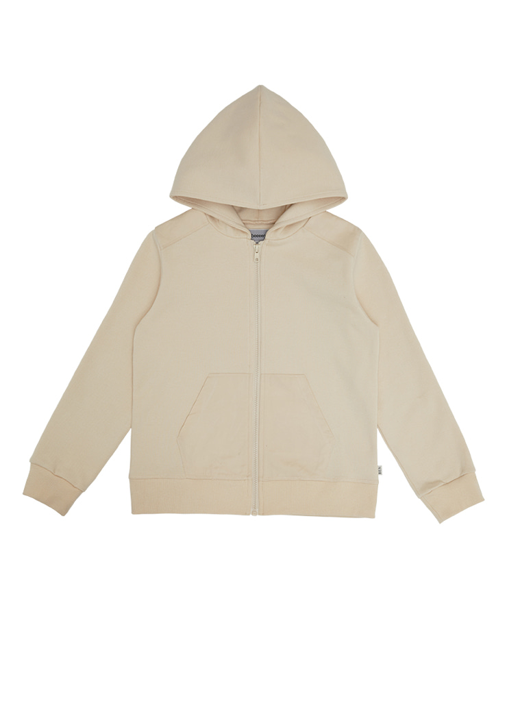 ben Tennis Hood Zip-Up_Cream