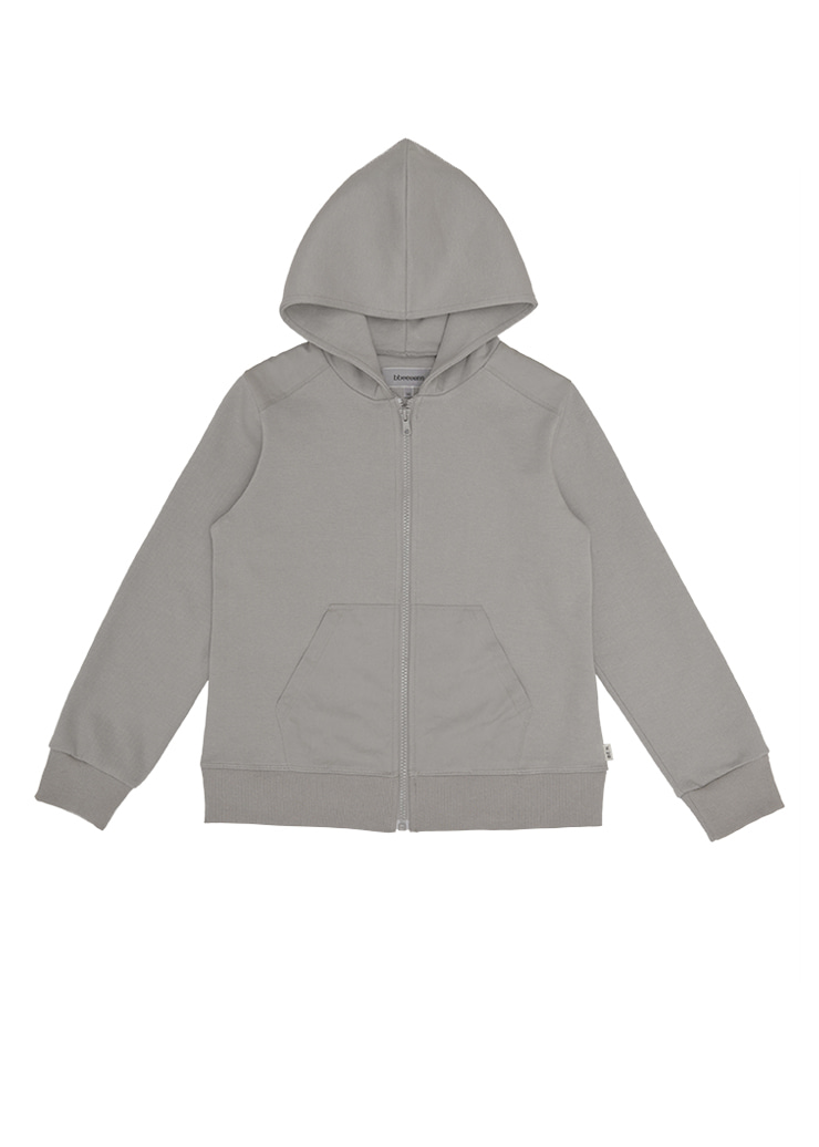 ben Tennis Hood Zip-Up_Gray