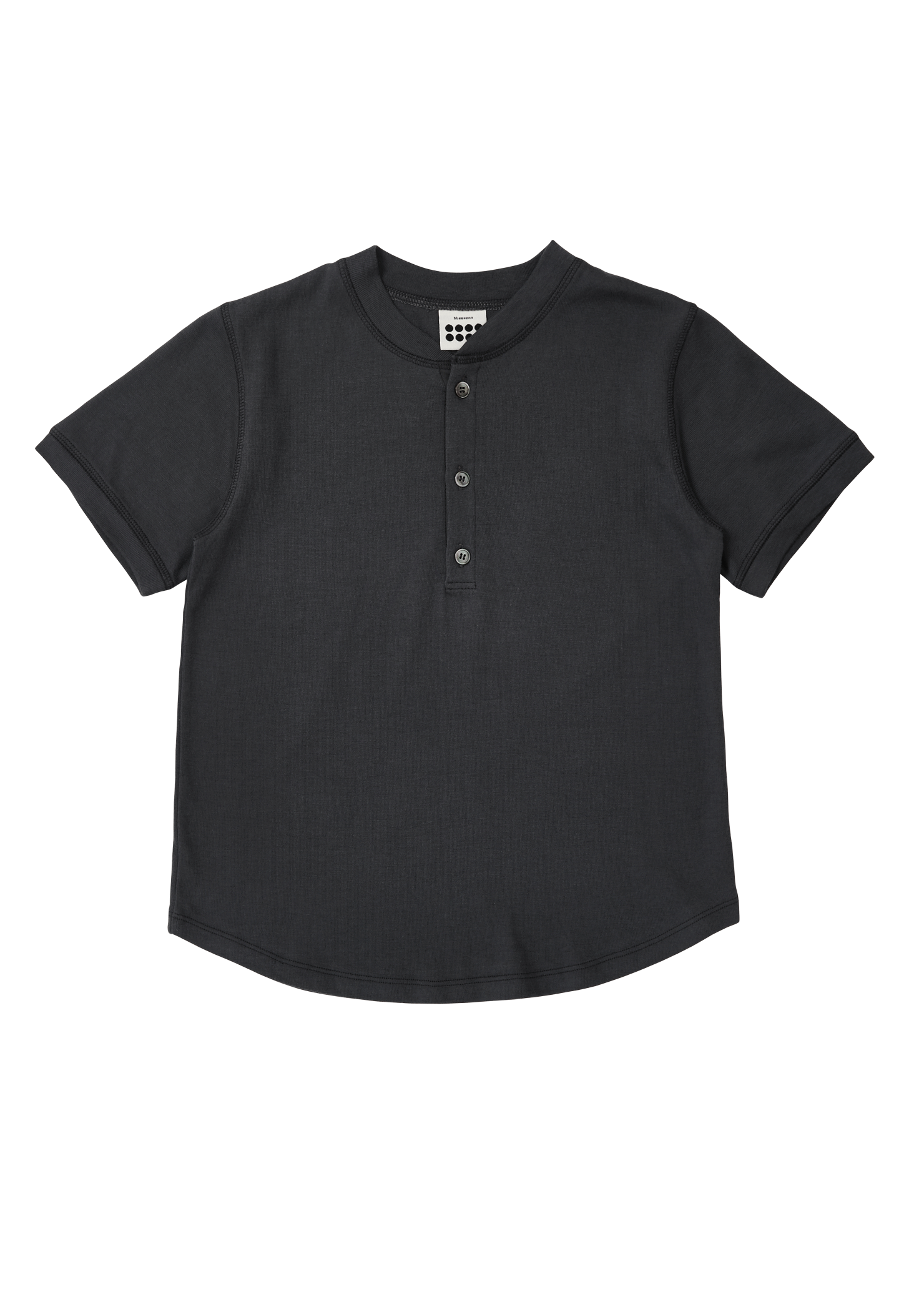 ben Tiny Button T_Charcoal