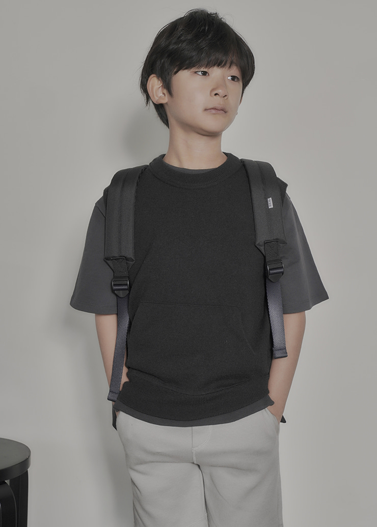 Over Pocket Half MTM_Charcoal