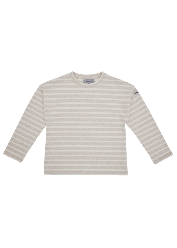 ben Stripe Drop Tee_Oatmeal