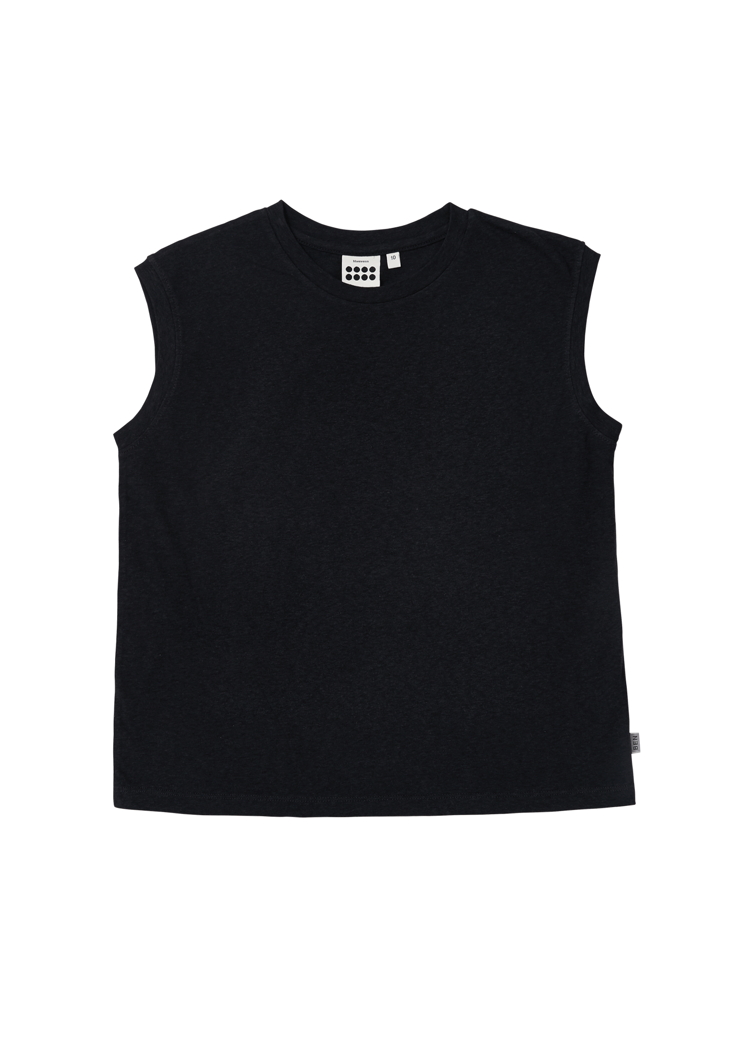 ben Simon Sleeveless_Charcoal
